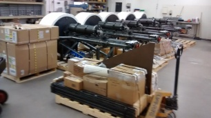 5 pumps ready for shipment and subsequent deployment